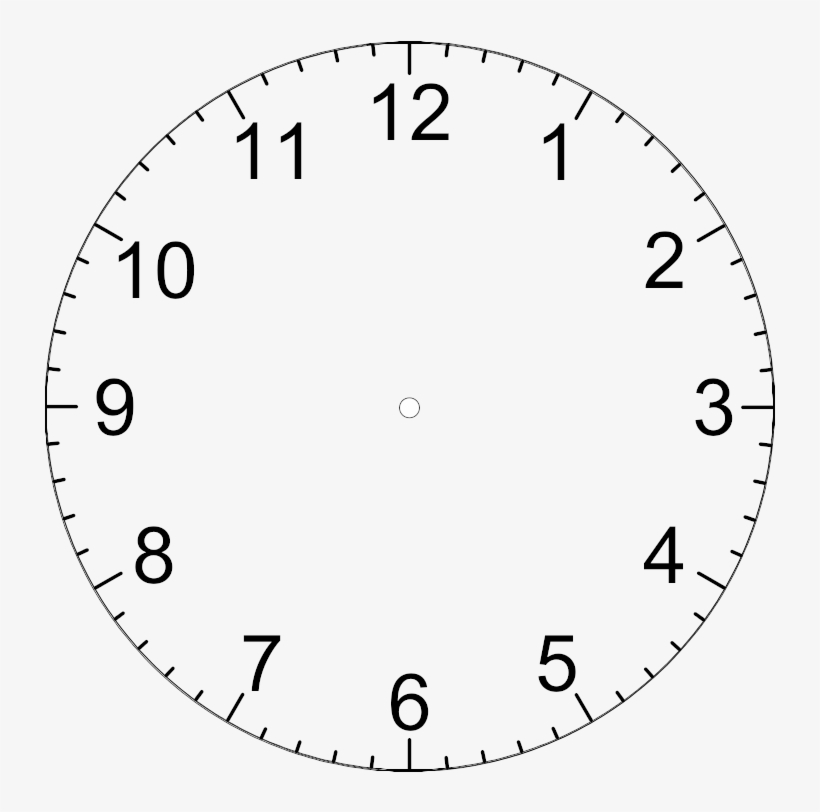 Free Download Clock Template With Hands Clipart Clock