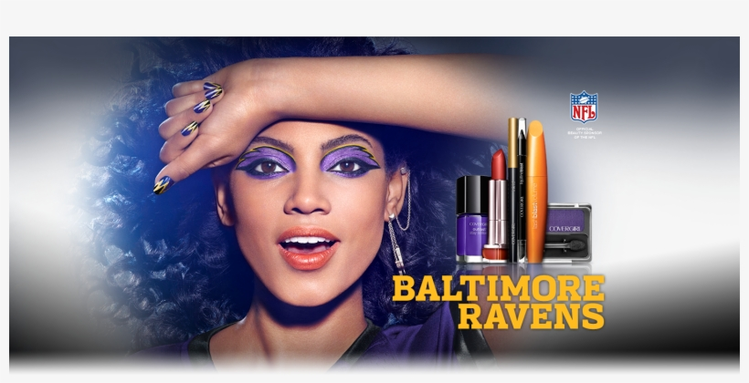 Covergirl Ad Using Baltimore Ravins' Colors - Covergirl Get Your Game Face, transparent png #4111292