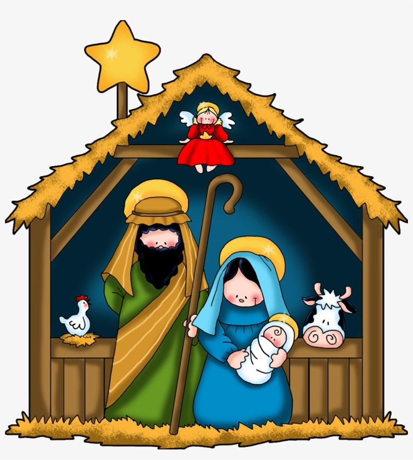 Nativity Scene Clipart New Calendar Template Site - Jesus Birth Clipart, transparent png #4112793
