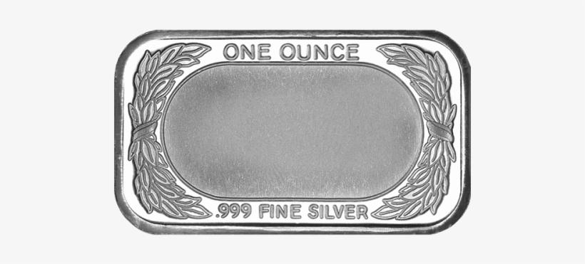 1 Oz Silver Bar, transparent png #4112867