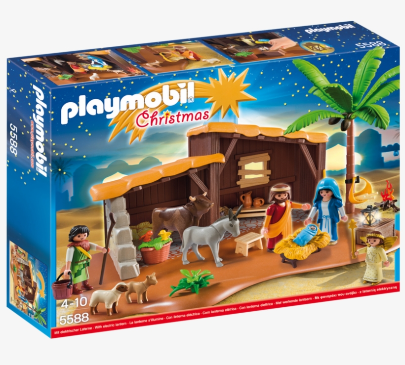 Playmobil Christmas Nativity Stable With Manger - Playmobil 5588 Nativity Stable With Manger Building, transparent png #4112871