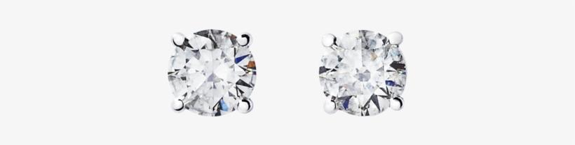 Diamond Stud Earring 4-prong Setting In Platinum - Renesim 1 Carat D Flawless Diamond Stud Earrings, transparent png #4116937