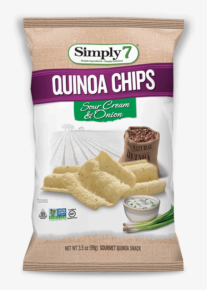 Buy Now - Simply 7 Quinoa Chips Sour Cream And Onion, transparent png #4122968