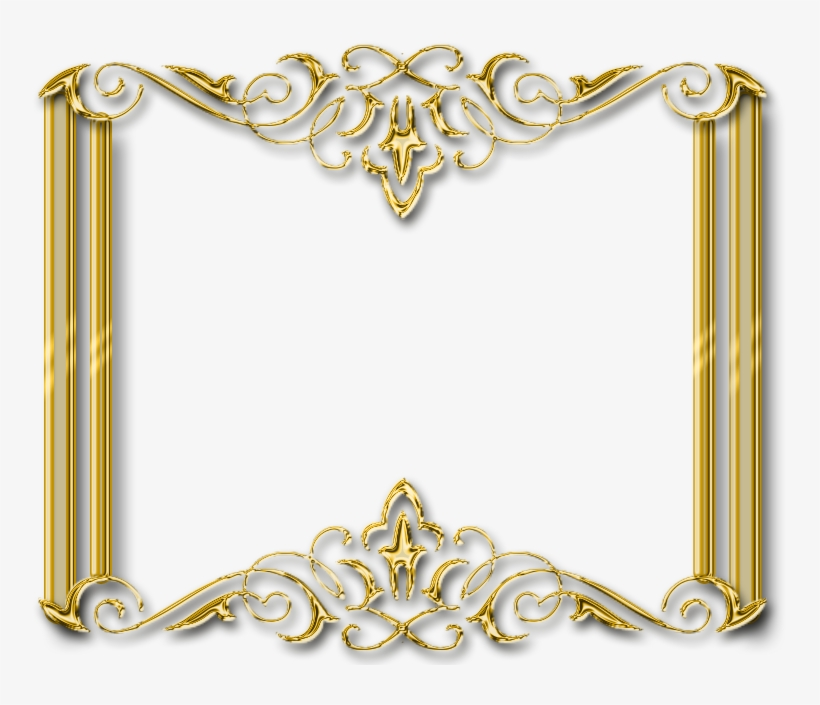 Frame Gold Transparent Png Pictures - Golden Frame Design Png, transparent png #4125563