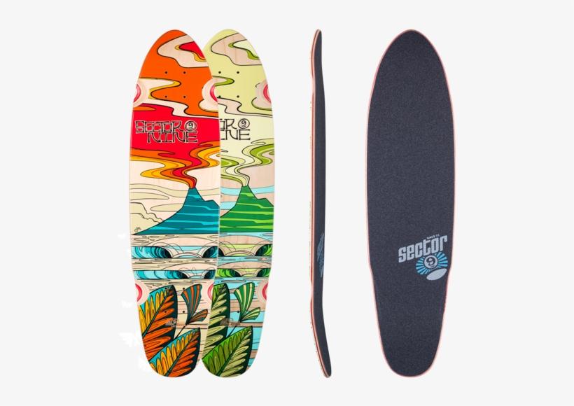 Sector 9 Lava Flow Artist Series Longboard Skateboard - Sector 9 Gavin Pro Complete - Blue, transparent png #4127436