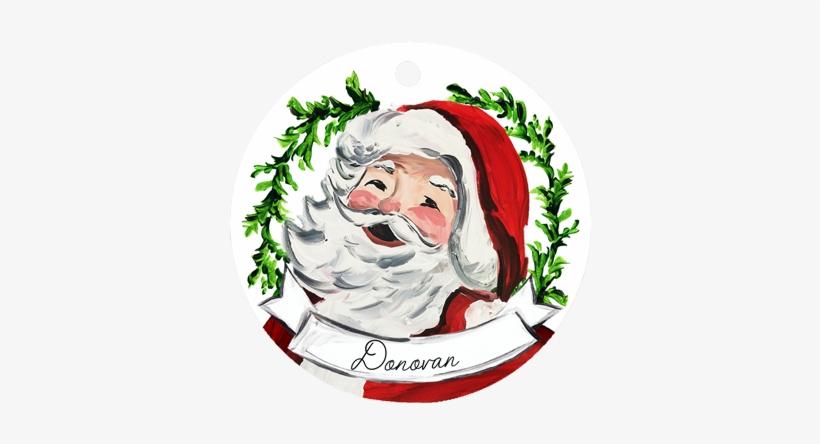 Santa Face Ornament - Santa Claus, transparent png #4128125