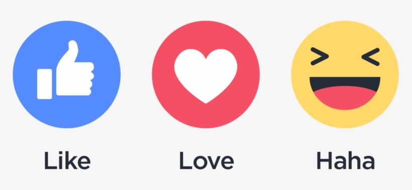 Integrate Facebook Reactions - Like Love Haha Facebook, transparent png #4129244