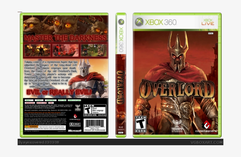 Overlord Box Art Cover Xbox 360 Far Cry 2 Cover Free