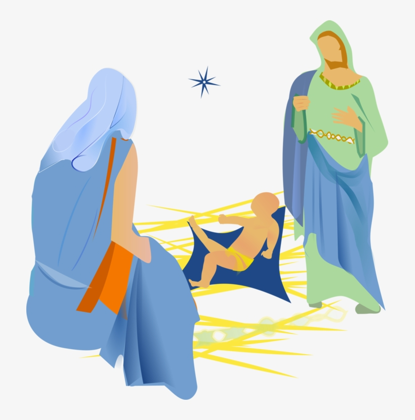 Nativity Scene Christmas Tree Church Nativity Of Jesus - Christmas Christian Png, transparent png #4134361