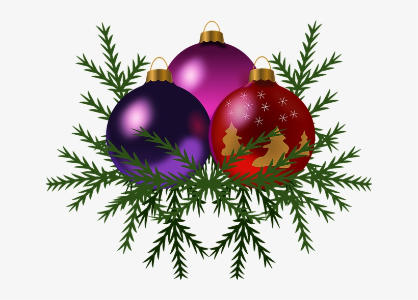 Christmas Baubles - Trio Of Holiday Ornaments Round Ornament, transparent png #4134856