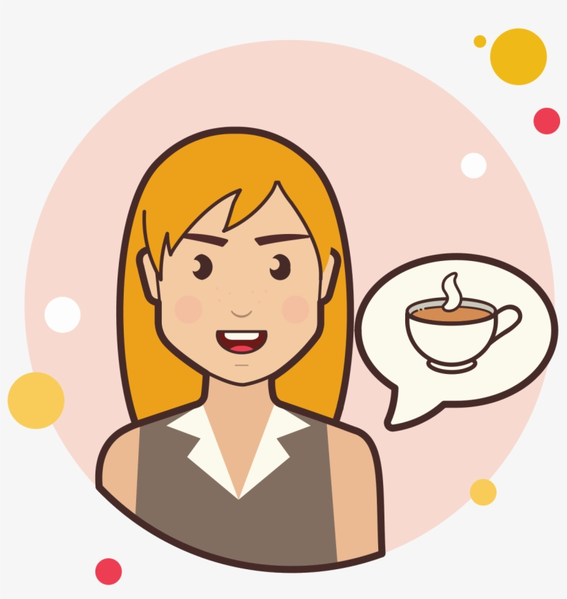 Girl And Coffee Cup Icon - Kid Question Png, transparent png #4135002