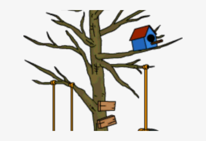 Cartoon Tree Swing – How to install a swing between trees.