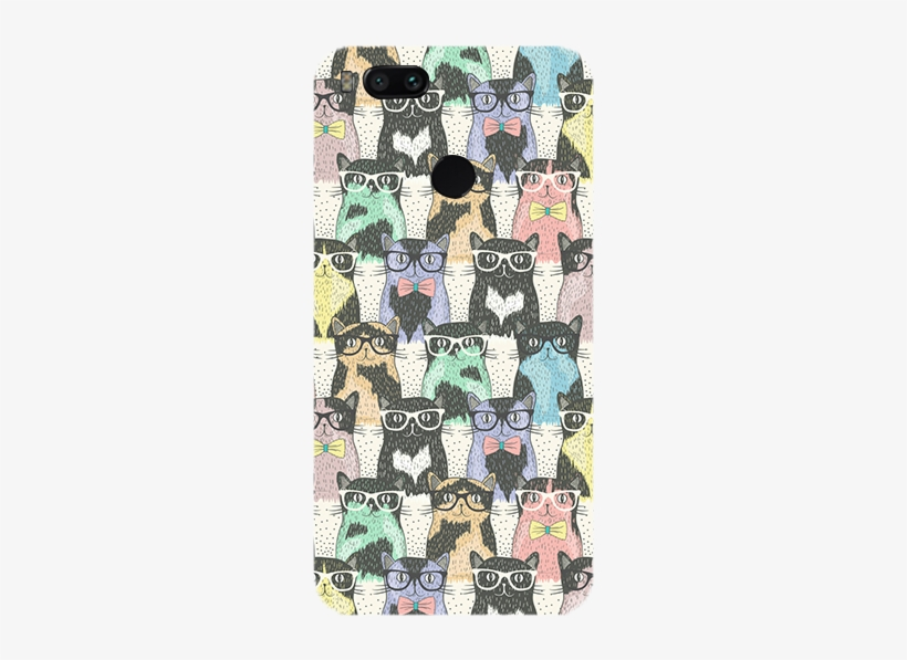 Cats And Specks Theme Redmi Mi A1 Back Cover - Hipster Cats