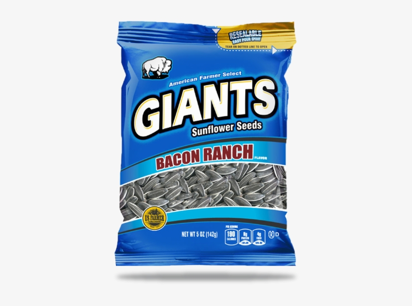 Bacon Ranch Flavored Sunflower Seeds - Bacon Ranch Flavored Giants Sunflower Seeds By Giants, transparent png #4137282