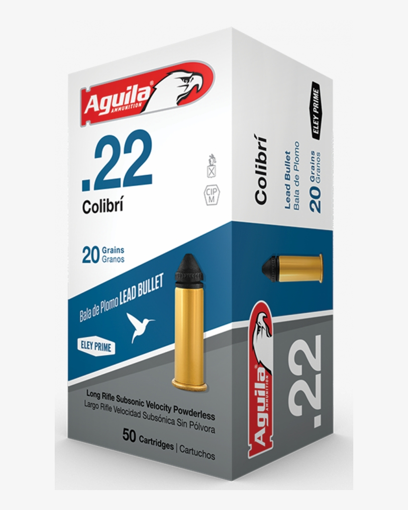Aguila 1b222337 Colibri 22 Long Rifle 20 Gr Colibri - 20grain .22, transparent png #4138013