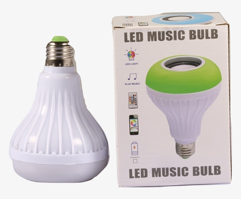Led Music Light Bulb - Incandescent Light Bulb, transparent png #4141375