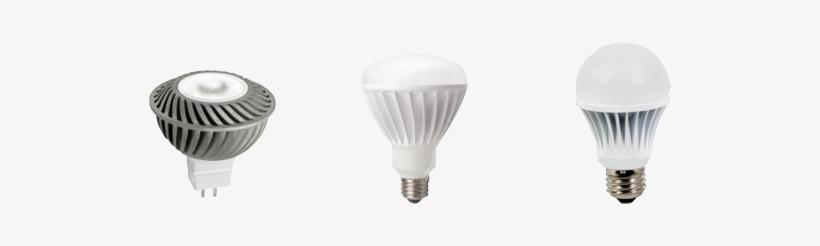 Three Led Bulbs Trans - Tcp 16374 - Led12v4mr16k30nfl Flood Led Light Bulb, transparent png #4141571