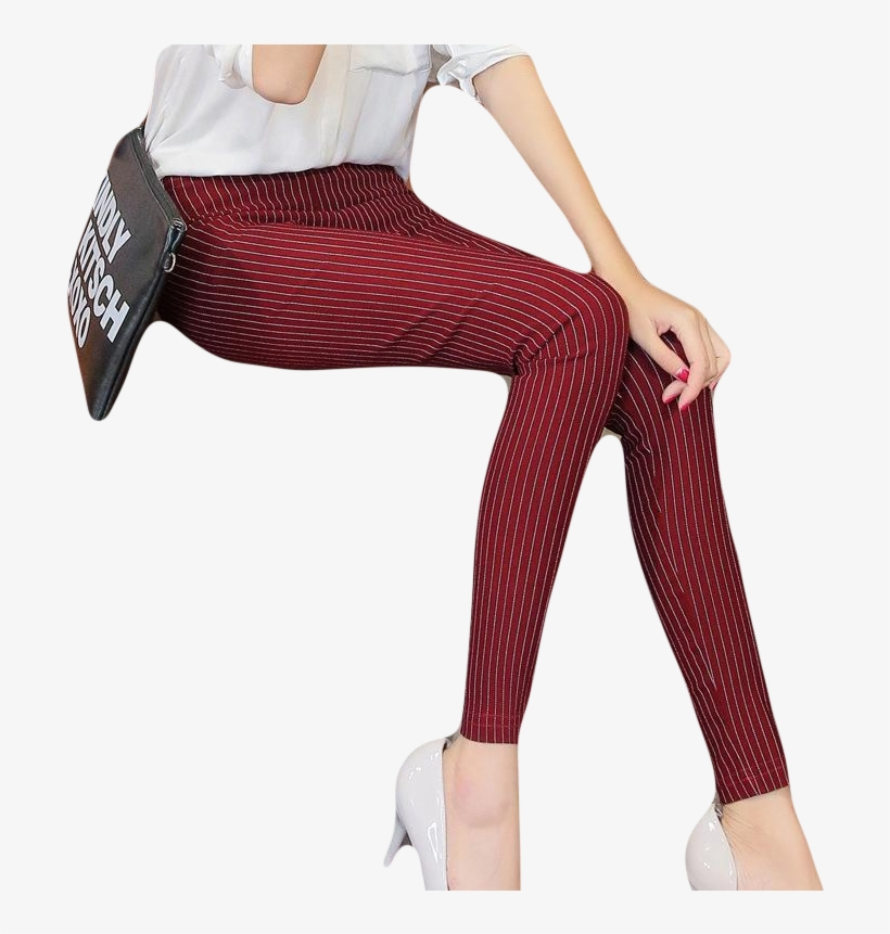 6f67ef6a372 Women Vertical Striped Pants - New Fashion Women Vertical Striped Pants  Female Pencil