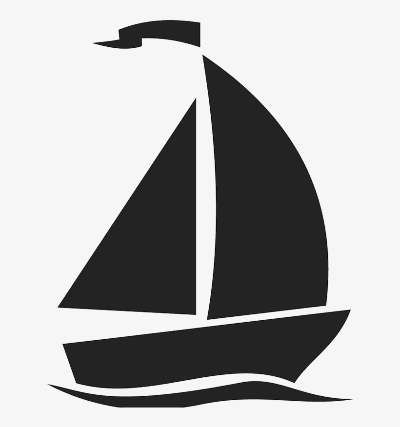 'i'm On A Boat ' (silhouette) Stamp - Silhouette Of A Boat, transparent png #4146437