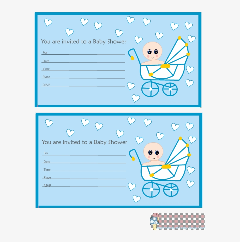 Cute Baby Shower Invitations For A Boy Template, transparent png #4149596