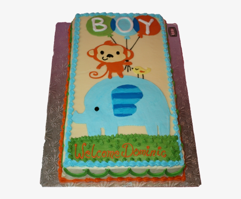 Babyshowerthree-2 - Sheet Baby Shower Cakes For Boys, transparent png #4150530