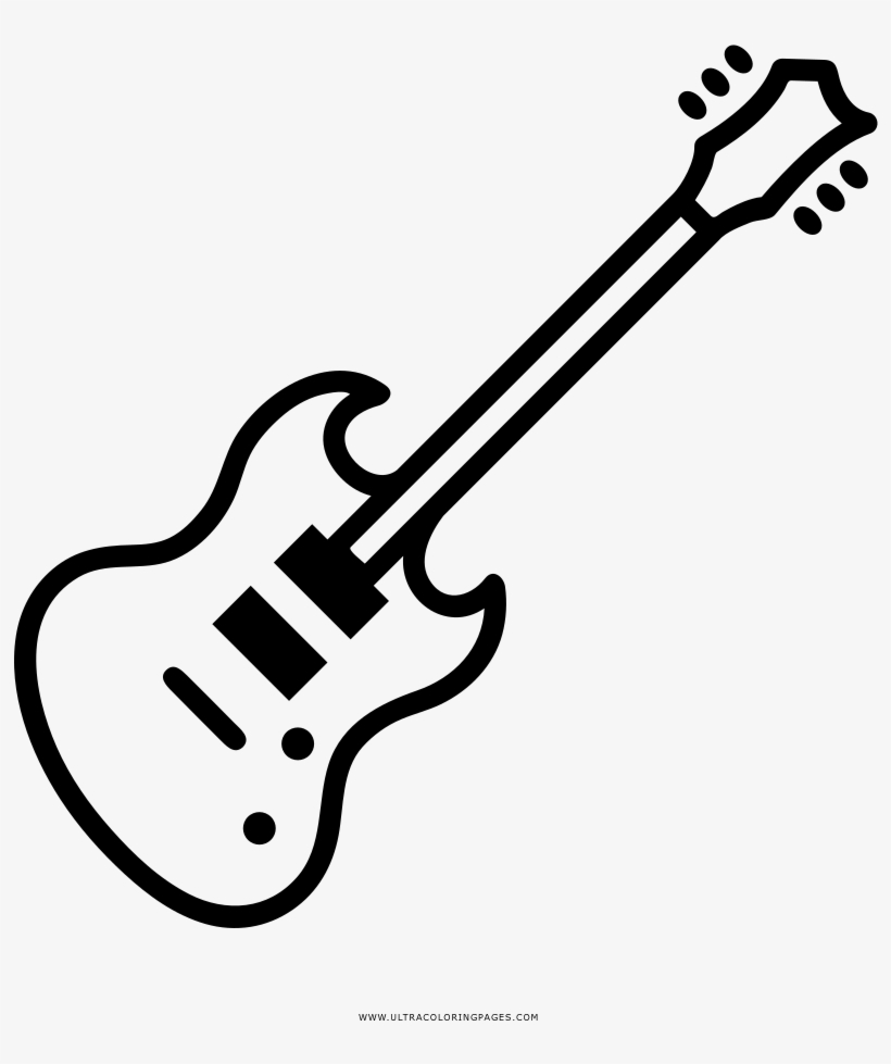 Dibujo De Guitarra Eléctrica Para Colorear - Guitarra Electrica Para Dibujar, transparent png #4151121