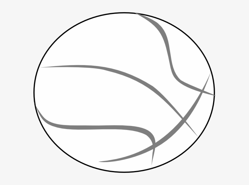 How To Set Use Basketball Grey Outline Svg Vector - Basketball Clipart Black And White, transparent png #4153432