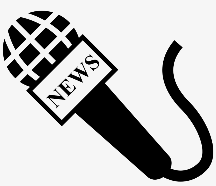 Microphone news. Free download interview icon