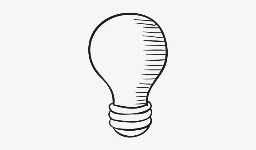 Drawed Light Bulb Vector - Incandescent Light Bulb, transparent png #4157230