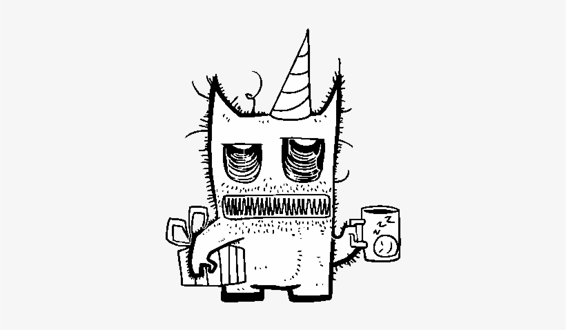 Dibujo De Monstruo Con Regalos De Cumpleaños Para Colorear - Para Dibujar De Feliz Cumpleaños, transparent png #4157943