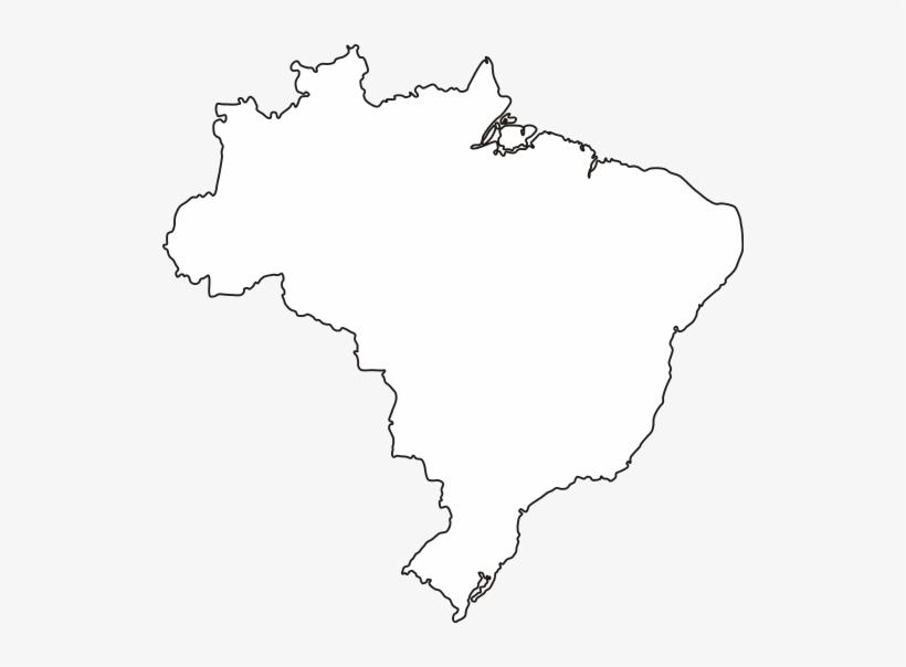 Imagem 008 - Contorno Do Mapa Do Brasil Para Colorir, transparent png #4158631