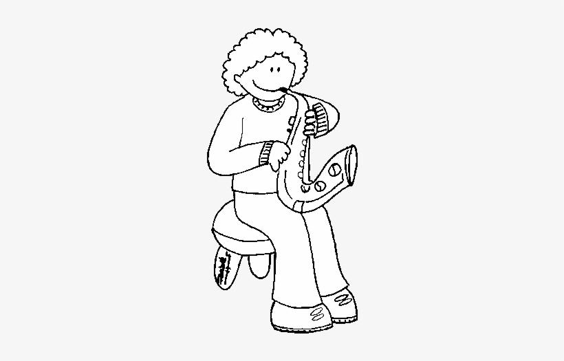 Dibujo De Niña Con Trompeta Para Colorear Dibujos De Instrumentos