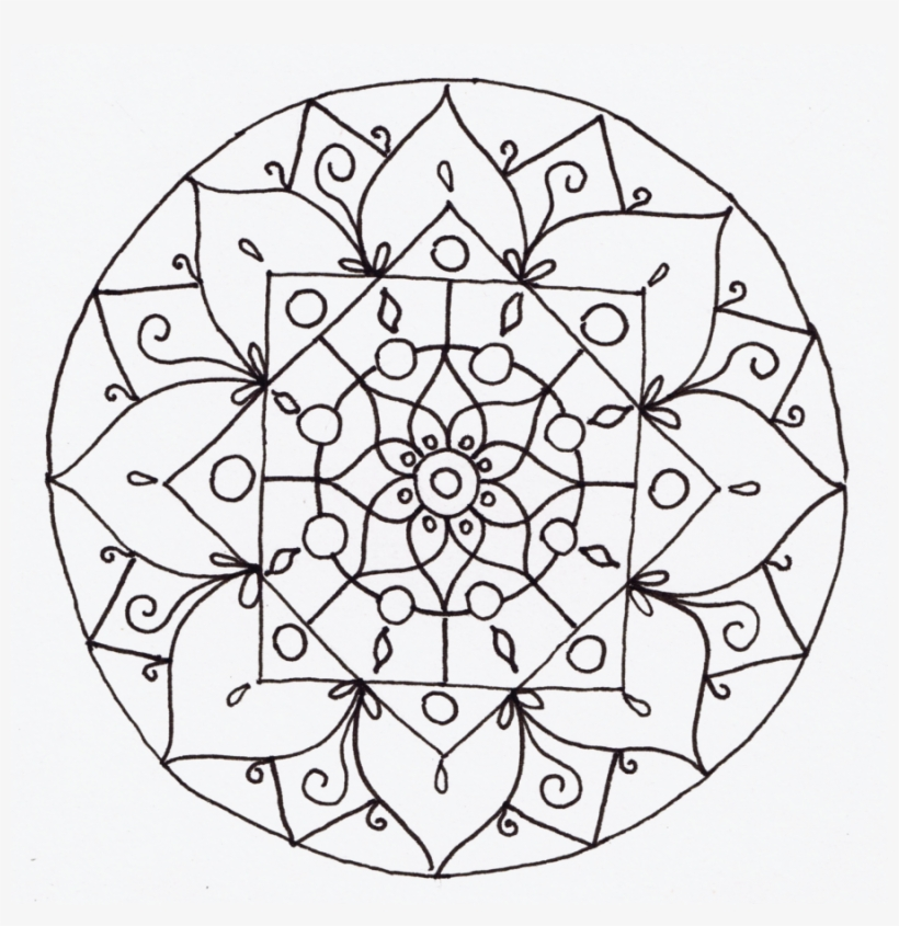 I Didn't Look At Any Particular Artist For The Mandala - Mandala Line Art Png, transparent png #4164685