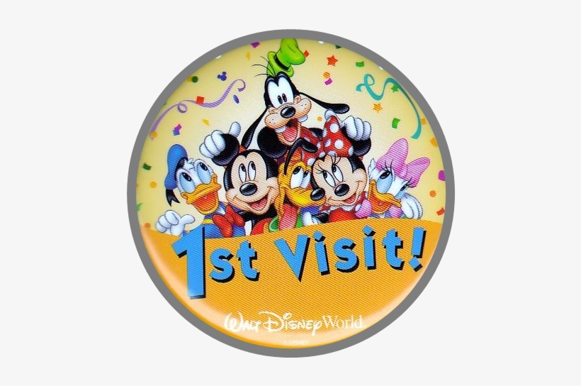 Disney First Visit Button, transparent png #4165345