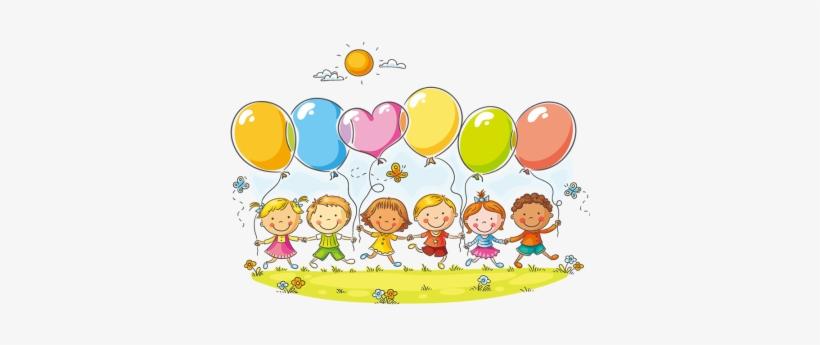 Royalty Free Download Children With Balloons Clipart - Addison Has Fun Anytime, Anywhere Coloring Book, transparent png #4167084
