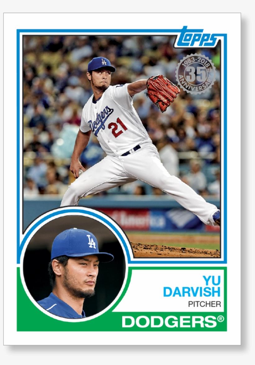 2018 Topps Series 1 Baseball Yu Darvish 1983 Topps Brooks