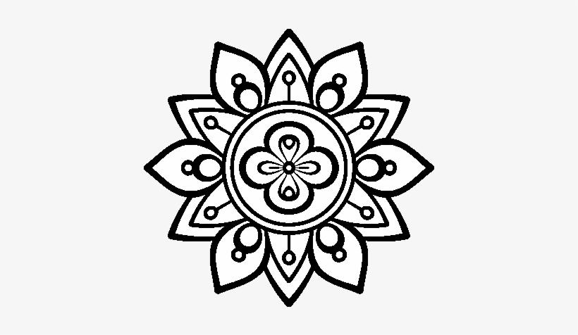 Dibujo De Mandala Flor De Loto Para Colorear Mandalas Para
