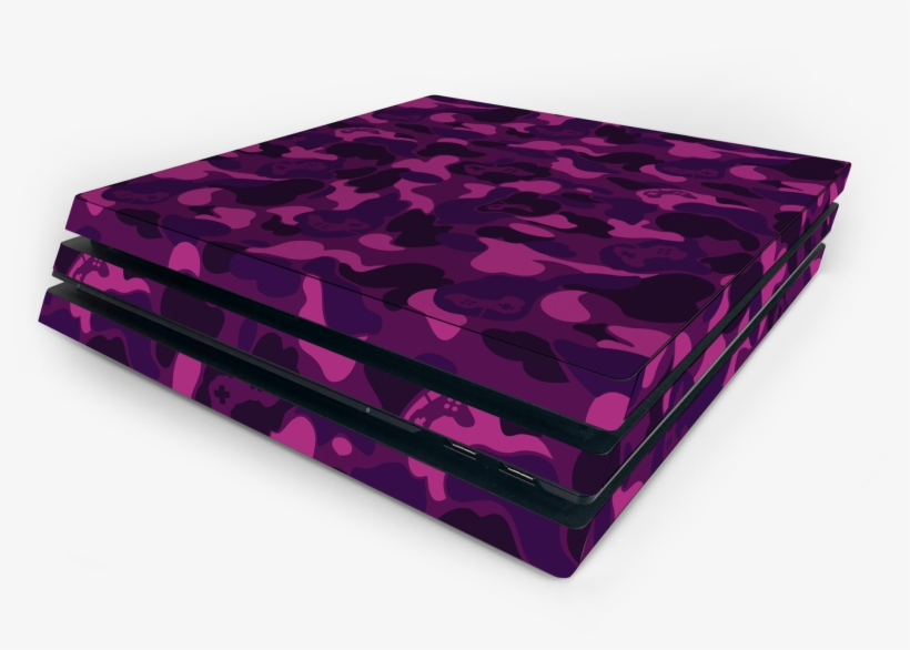 Sony Ps4 Pro Purple Game Camo Skin - Sony Playstation 4 Pro, transparent png #4172782