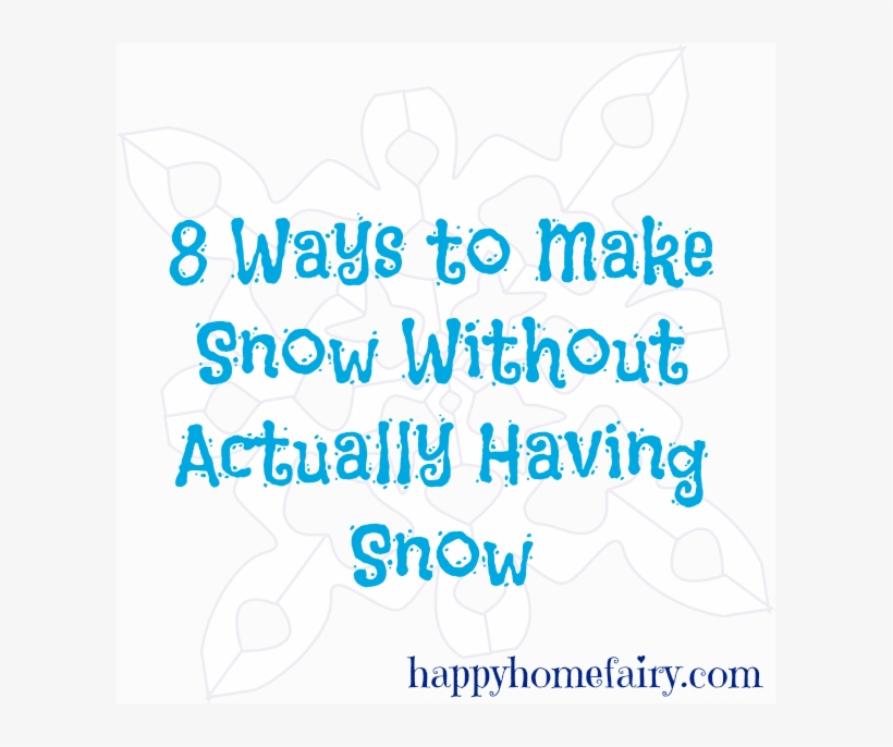 8 Ways To Make Snow Without Actually Having Snow - Today I Eat Cake, Yum Shower Curtain, transparent png #4173380