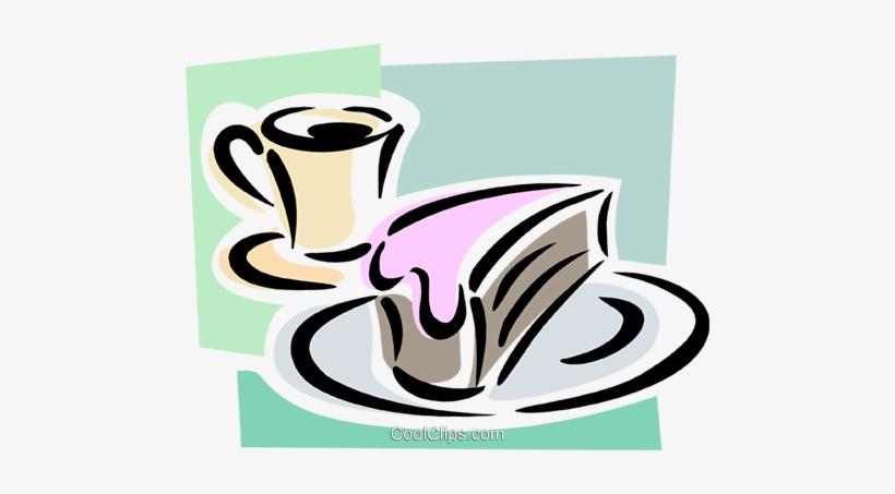 Mit Kaffee Vektor Bild Food Coolclips Com Kaffee Und Kuchen