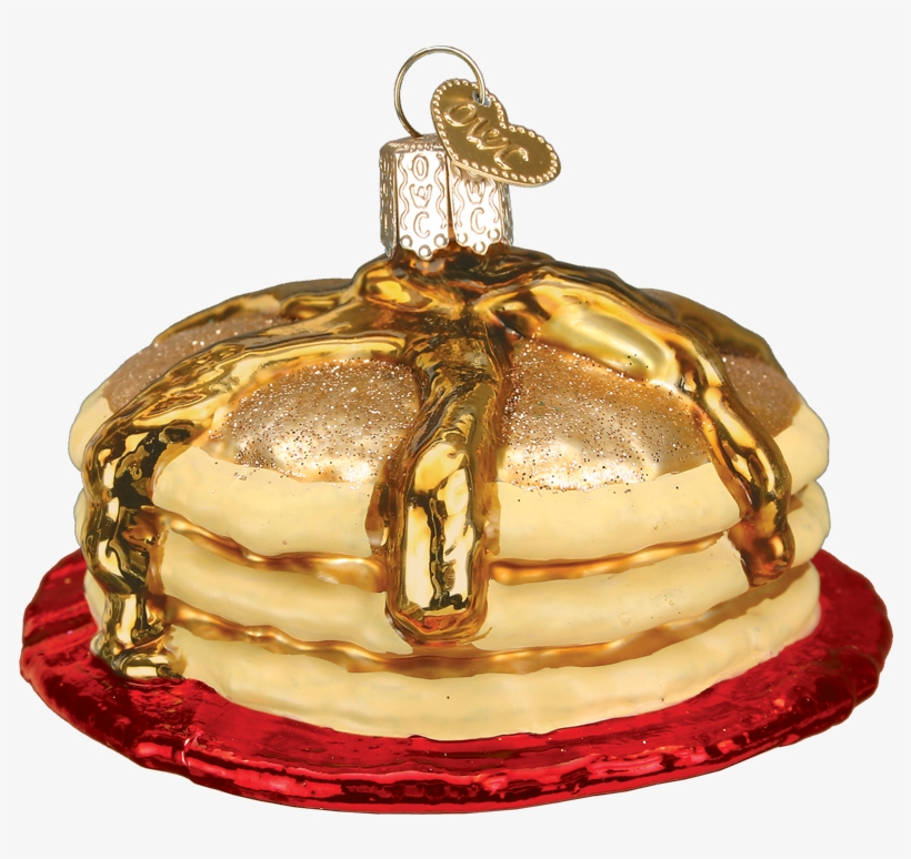 Short Stack Of Pancakes Old World Glass Ornament - Old World Christmas Short Stack Pancakes Glass Ornament, transparent png #4178105