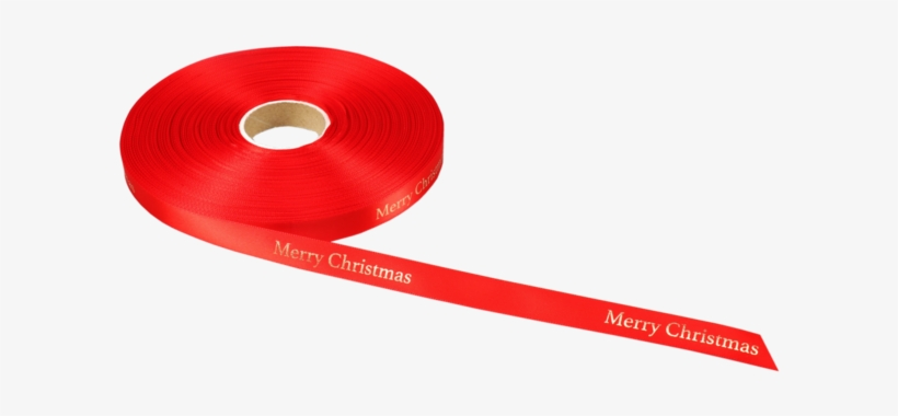 Lovly® Ribbon, 15mm, 100m, Merry Christmas, Red/gold - Christmas Day, transparent png #4180043
