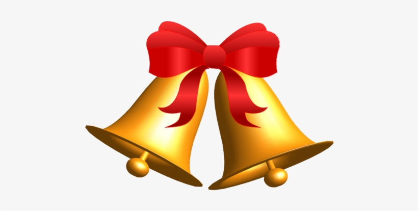 Gold Christmas Source - Red And Gold Christmas Bells, transparent png #4180414