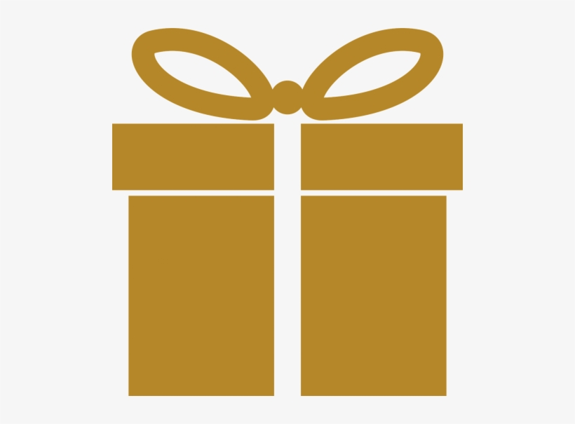 Gold Gift Icon Png, transparent png #4180420