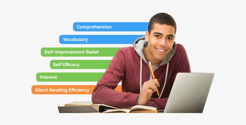 Male High School Student Seated At Desk, Smiling With - Student, transparent png #4181169