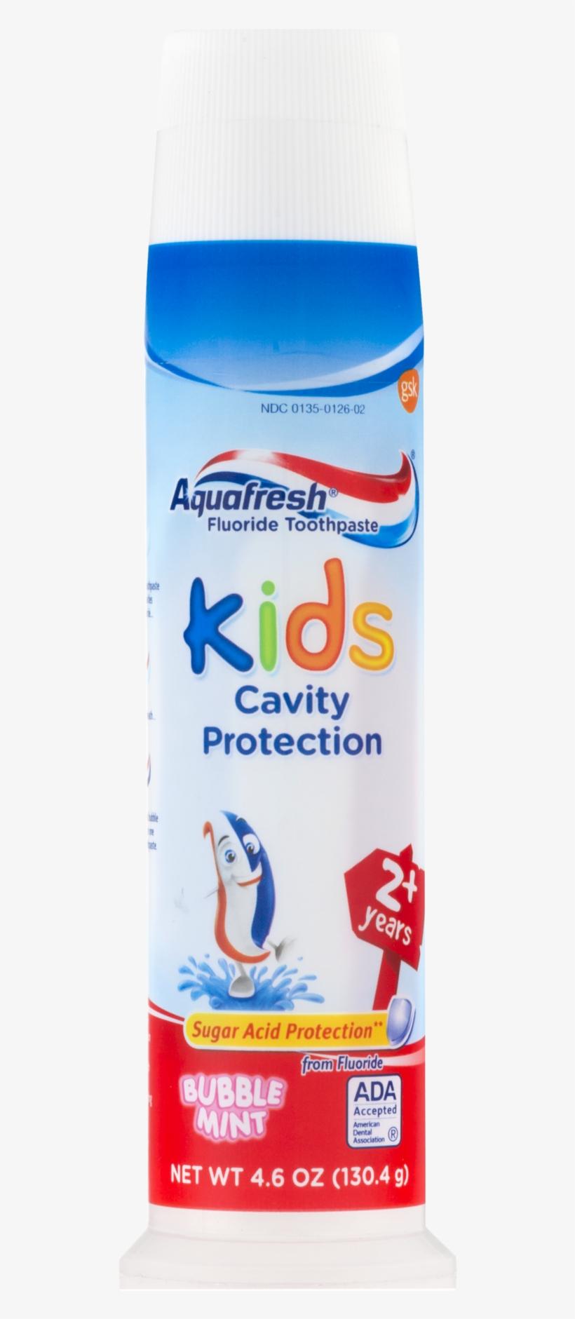 Aquafresh Fluoride Toothpaste Kids Cavity Protection - Fluoride Toothpaste Kids, transparent png #4185389