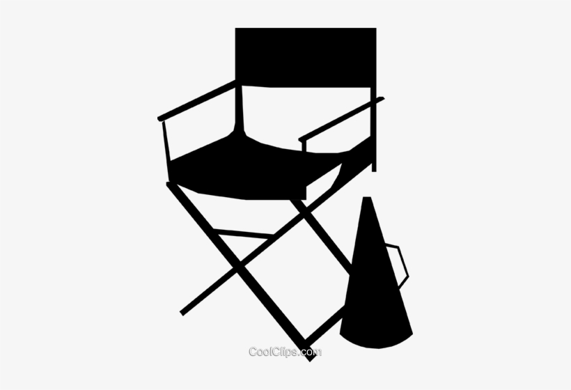 Director's Chair Royalty Free Vector Clip Art Illustration - Director Chair Clip Art, transparent png #4186494
