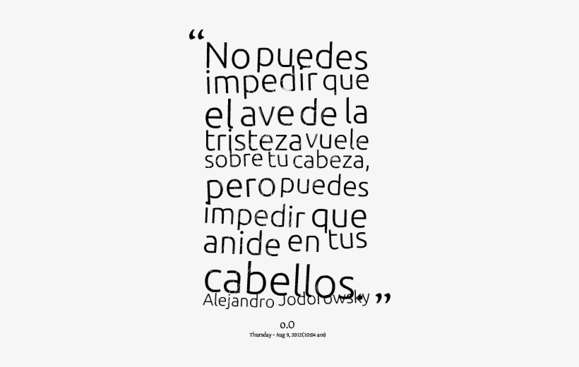 Quotes From Natalia Mendez - Frases De Aves Sin Nido, transparent png #4188310