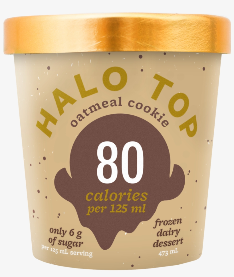 Ht18 Packshot Mock Oatmealcookie 011718cg - Halo Top Oatmeal Cookie, transparent png #4189715