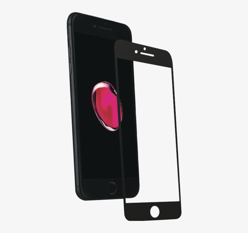 Premium Tempered Glass For Iphone - Apple Iphone 7 Plus 32gb Black Mnqm2pm/a, transparent png #4190133